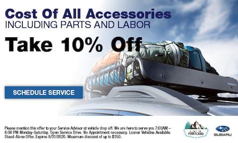 10% Off Subaru Accessories