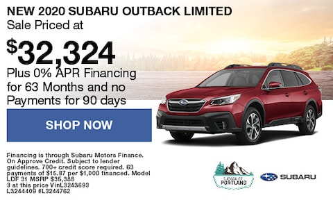 September 2020 Outback Limited Special