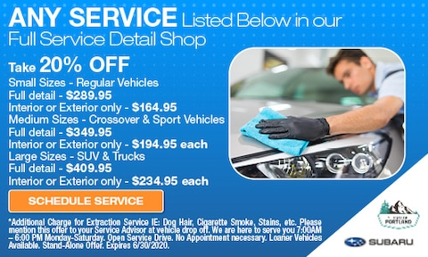 June 2020 Select Services 20% off Special
