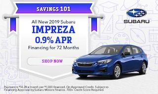 September 2019 Impreza Finance Special