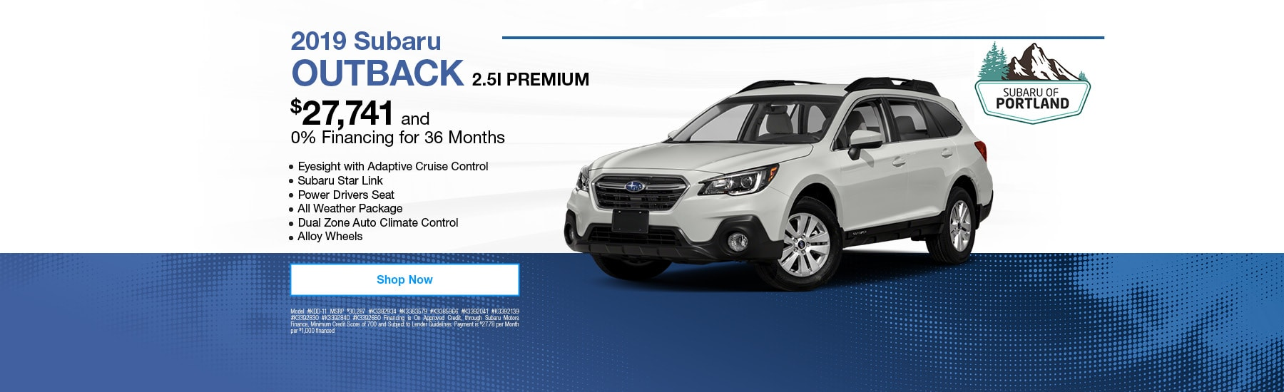 Subaru 0 Financing >> Subaru Outback In Portland Or Subaru Of Portland