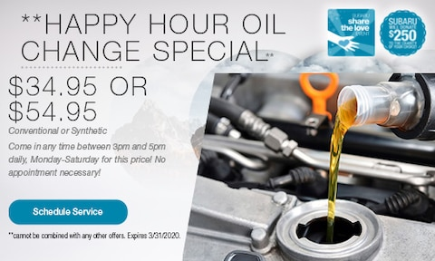 Happy Hour Oil Change Special