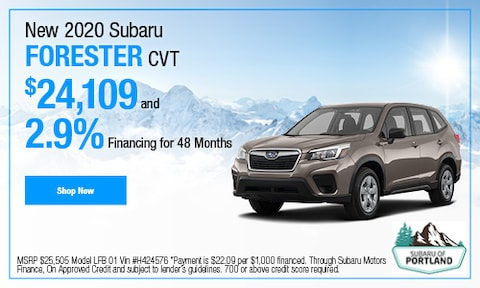 January 2020 Forester Special