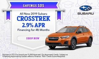 September 2019 Crosstrek Financing Special