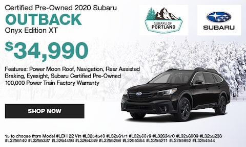 January 2020 Certified Outback Onyx Edition Special 2