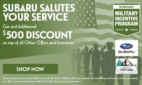 Subaru Salutes Your Service