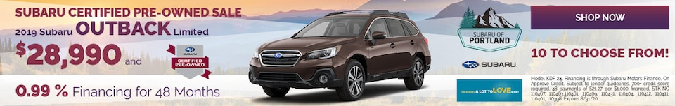 August 2019 Outback Limited CPO Special