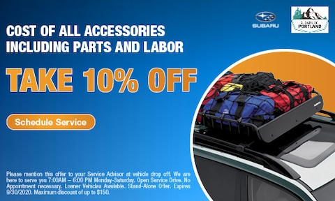 Take 10% Off Accessories, Parts and Labor