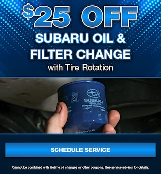 $25 Off Subaru Oil & Filter Change