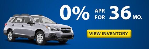 Zero Percent Low Apr Offers On New 2019 Subaru Models Subaru Of Puyallup