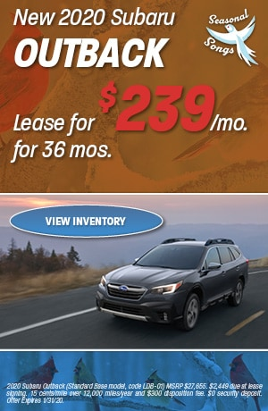 January New 2020 Subaru Outback Lease Offer