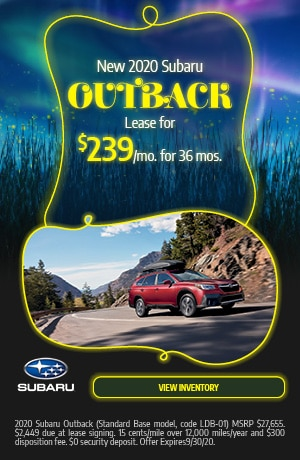 September New 2020 Subaru Outback Lease Offer