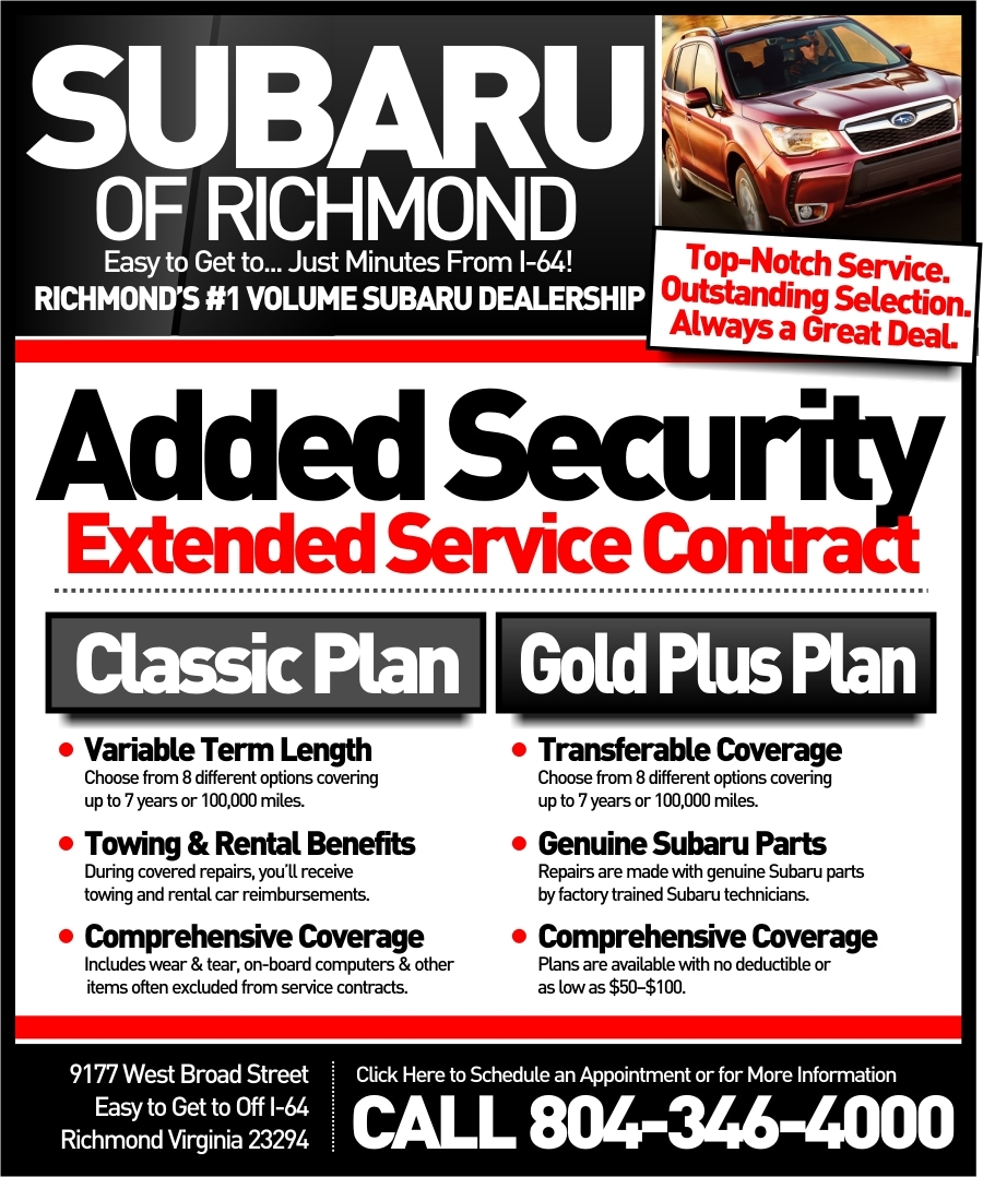 Subaru Of Richmond Extended Warranty