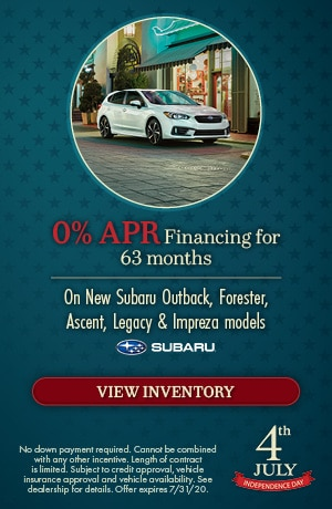 July 0% APR Financing for 63 months Offer