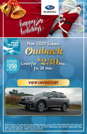 December New 2020 Subaru Outback Lease Offer