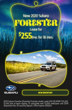 September New 2020 Subaru Forester Lease Offer