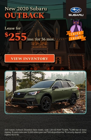 October New 2020 Subaru Outback Offer