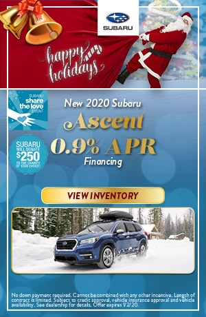 December New 2020 Subaru Ascent Lease Offer