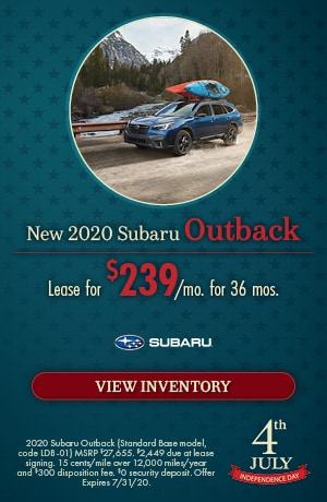 July New 2020 Subaru Outback Offer