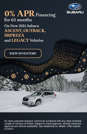 January 0% APR Financing for 63 months Offer