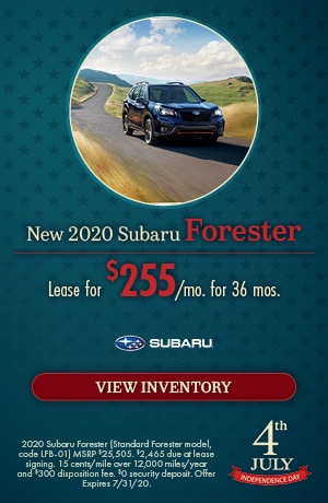 July New 2020 Subaru Forester Offer