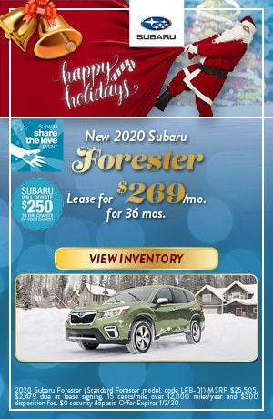 December New 2020 Subaru Forester Lease Offer