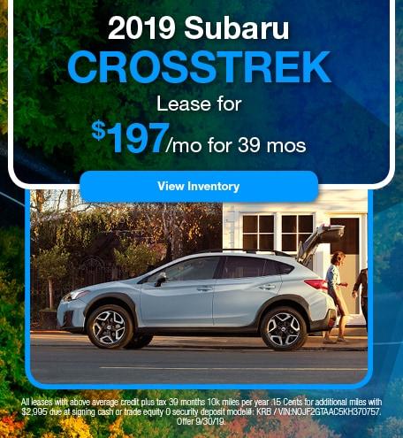 September 2019 Crosstrek Lease