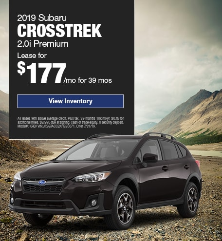 2019 Crosstrek July Offer