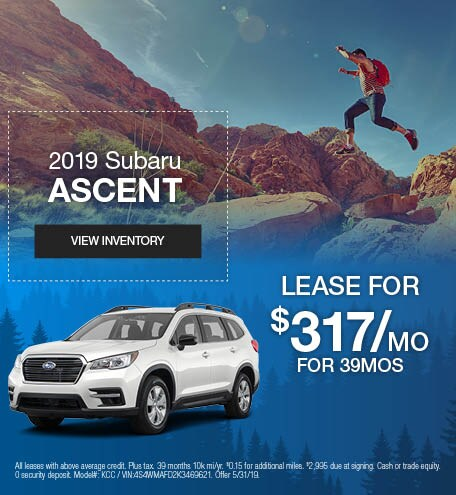 May 2019 Subaru Ascent Lease
