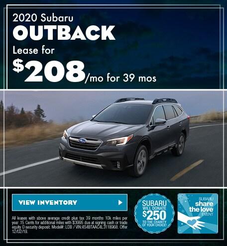 November 2020 Outback Lease