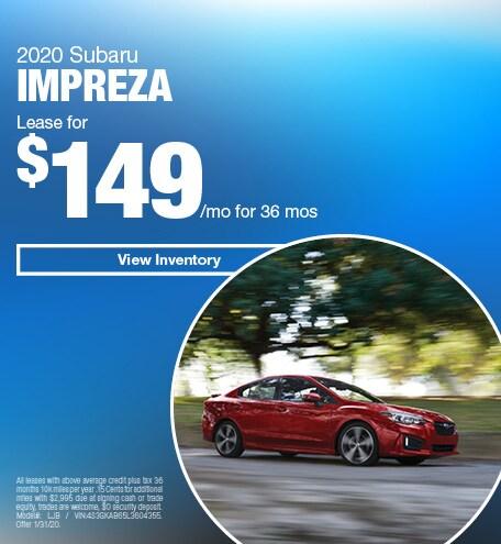January 2020 Subaru Impreza - Lease