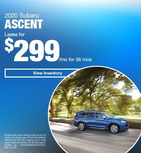 January 2020 Subaru Ascent - Lease