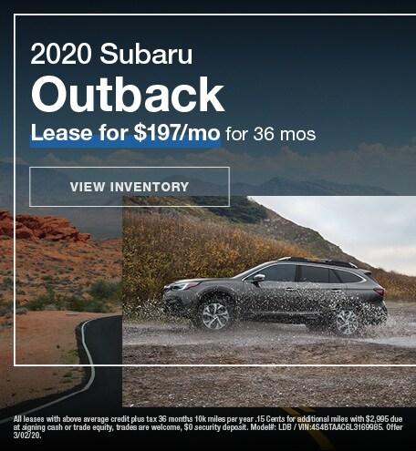 February 2020 Outback Lease