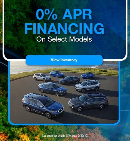 September 0% Financing on Select Models