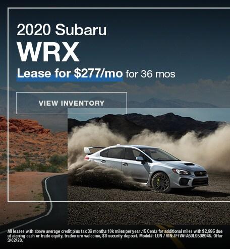 February 2020 WRX Lease