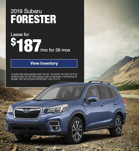 2019 Forester July Offer