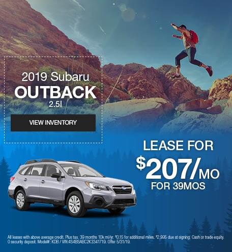 May 2019 Subaru Outback Lease