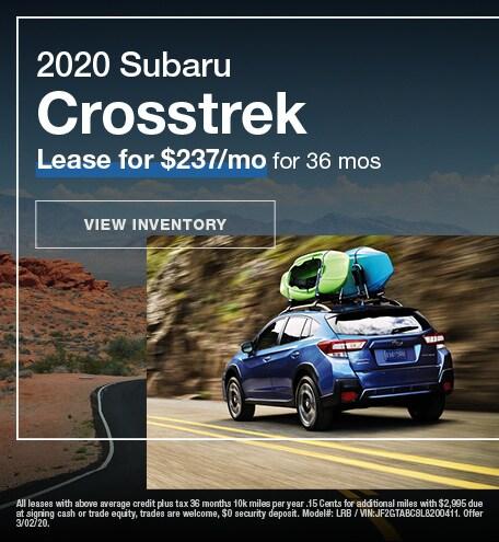 February 2020 Crosstrek Lease