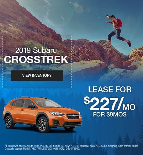 May 2019 Subaru Crosstrek Lease