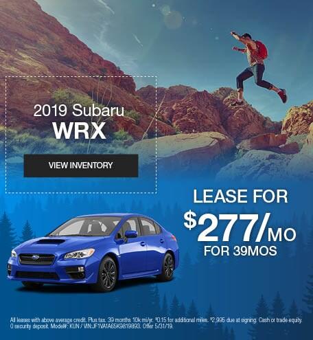 May 2019 Subaru WRX Lease