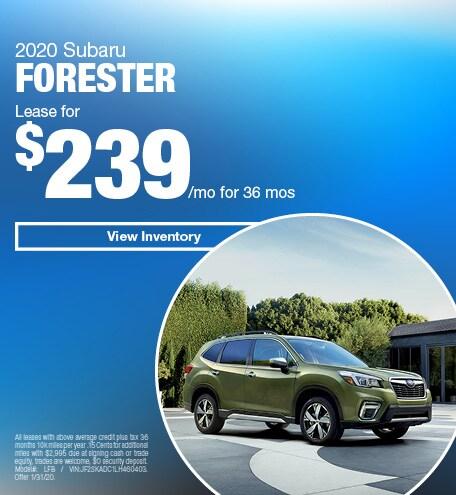 January 2020 Subaru Forester - Lease