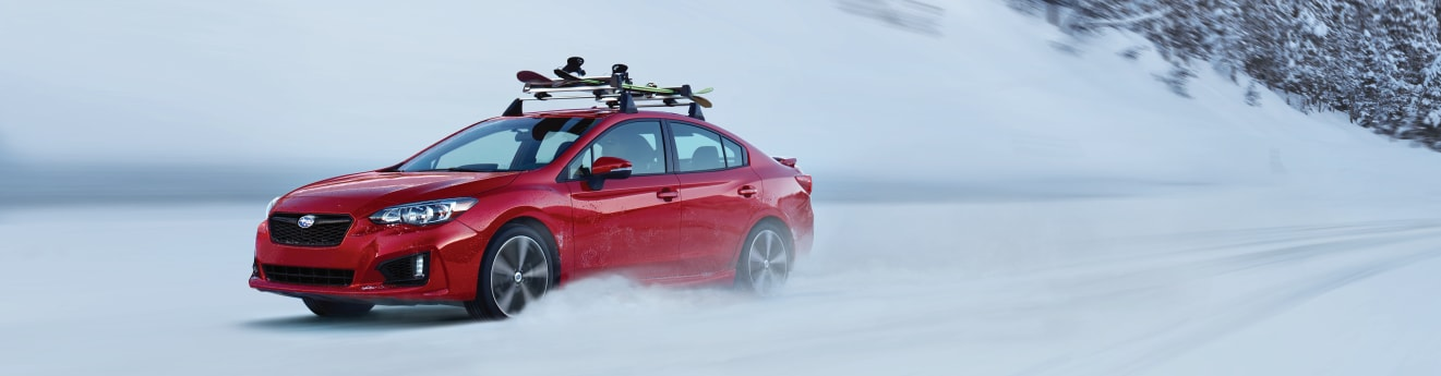 2018 Subaru Impreza in the Snow