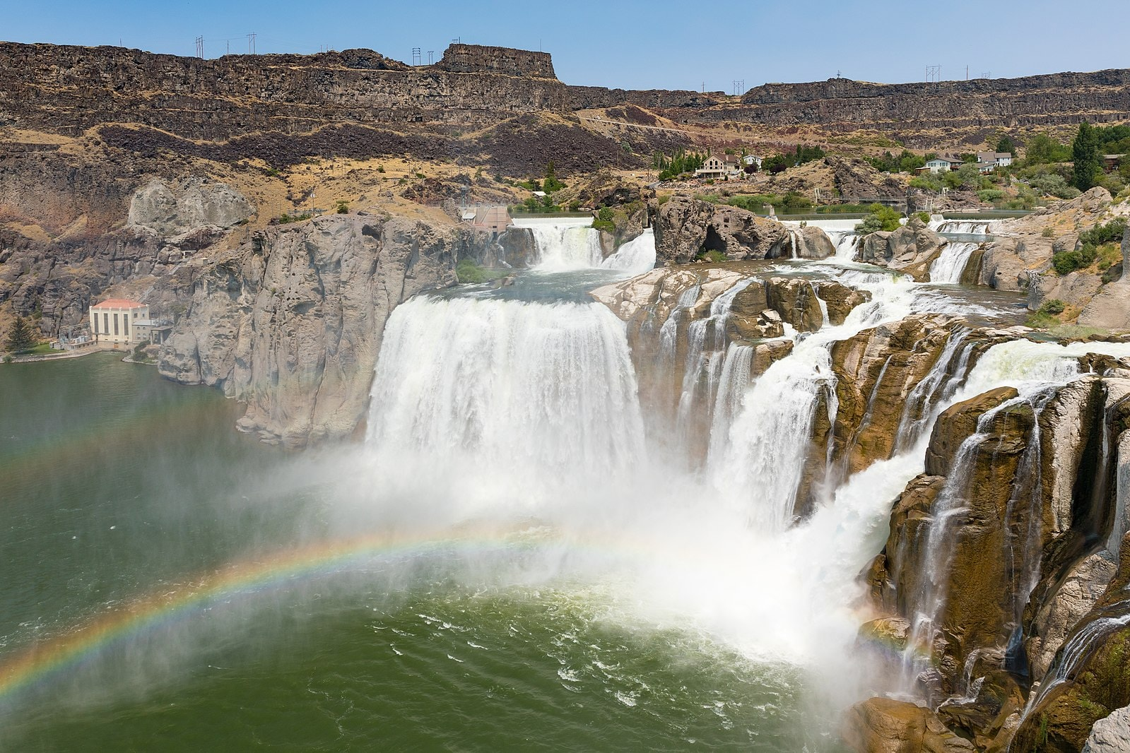 view of the Shshone Falls in Twin Falls