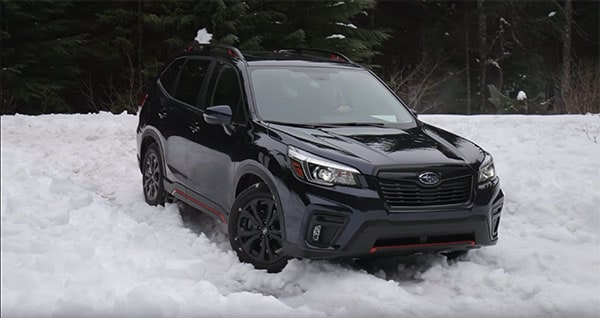 2019 Forester in snow
