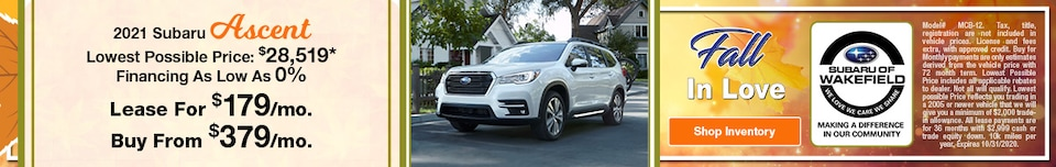 2021 Subaru Ascent October Offer