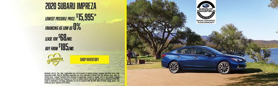 2020 Subaru Impreza July Offer