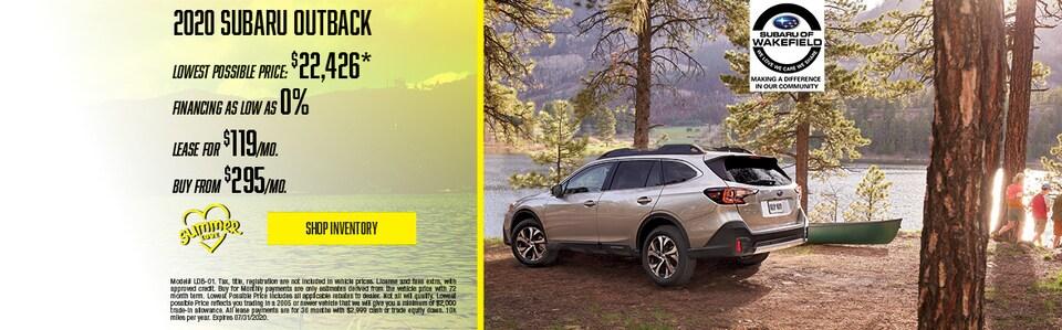 2020 Subaru Outback July Offer
