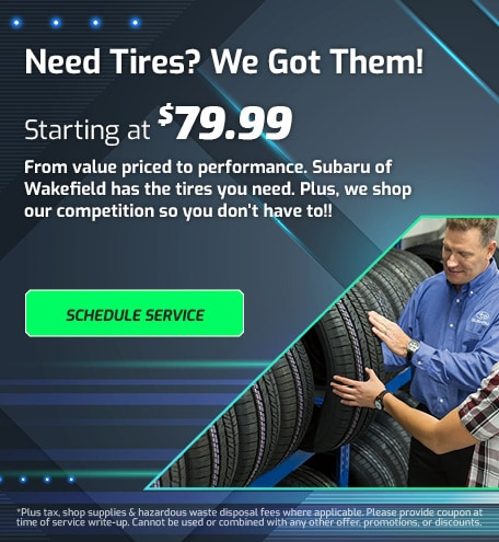Need Tires? We Got Them!
