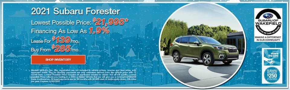 2021 Subaru Forester November Offer