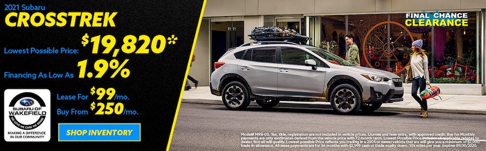 2020 Subaru Crosstrek September Offer